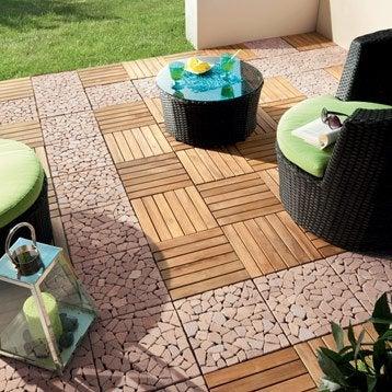 Dalle bois pour terrasse et jardin dalle et lame bois pour terrasse et jard - Dalles clipsables pour terrasse ...