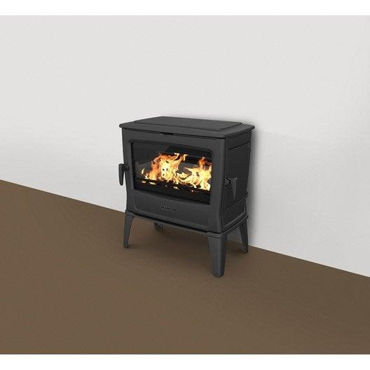 po le bois norflam forte noir 11 kw leroy merlin. Black Bedroom Furniture Sets. Home Design Ideas