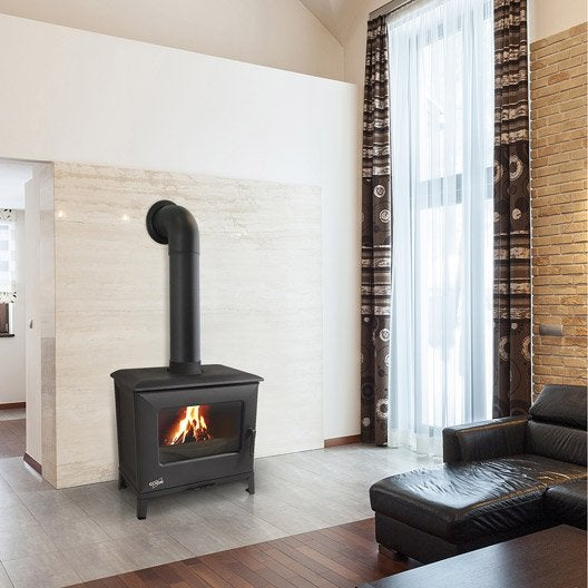 po le bois godin didal anthracite 5 5 kw leroy merlin. Black Bedroom Furniture Sets. Home Design Ideas
