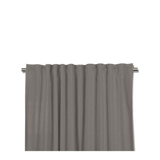 rideau petite hauteur neo gris fonc x cm leroy merlin. Black Bedroom Furniture Sets. Home Design Ideas