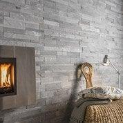 Plaquette de parement pierre naturelle gris Loft