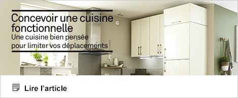 Artcile Réaliser Concevoir cuisine fonctionnelle