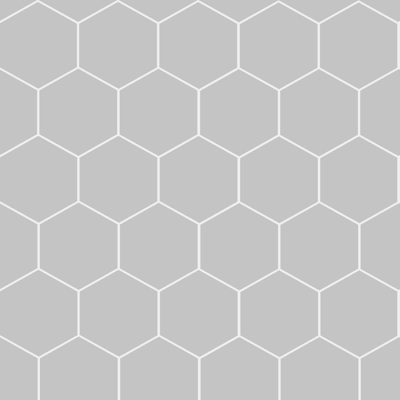 Papier peint intissé Hexagone gris   Leroy Merlin