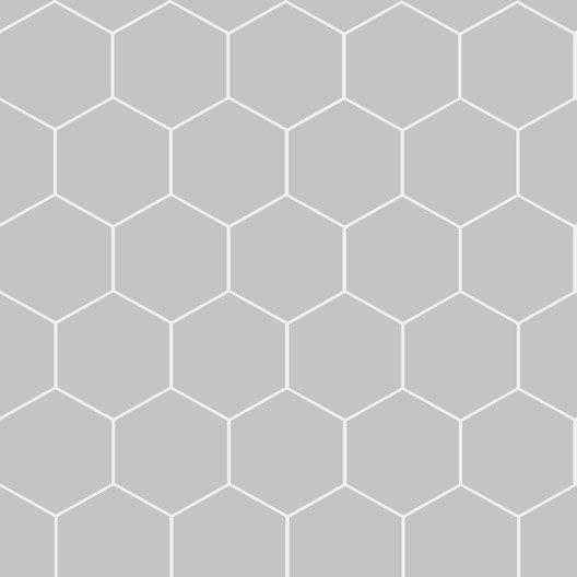 papier peint intiss hexagone gris leroy merlin. Black Bedroom Furniture Sets. Home Design Ideas