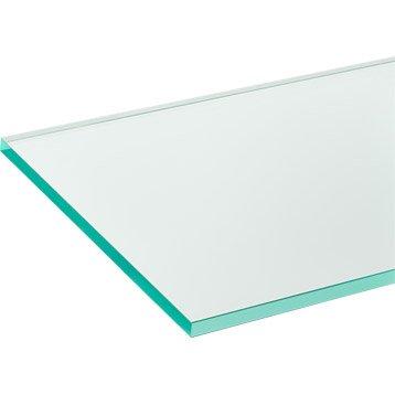 Verre minéral Clair transparent lisse, L.200 x l.98 cm x Ep.4 mm