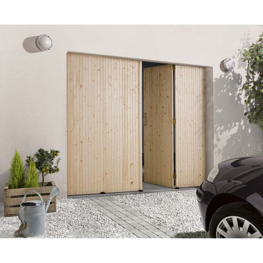 porte de garage pliante manuelle primo x cm leroy merlin. Black Bedroom Furniture Sets. Home Design Ideas