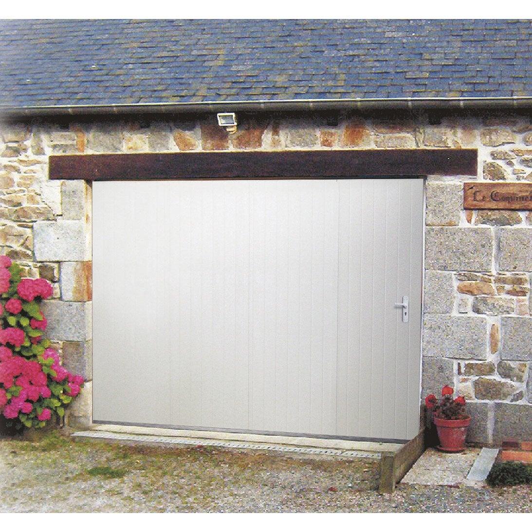 Charmant Porte De Garage Coulissante Manuelle ARTENS H.200 X L.240 Cm Avec Hublot