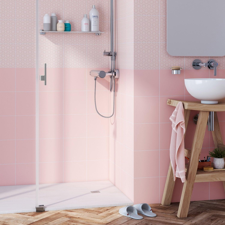 Faïence mur rose bistro n°6 mat l.20 x L.20 cm, Astuce