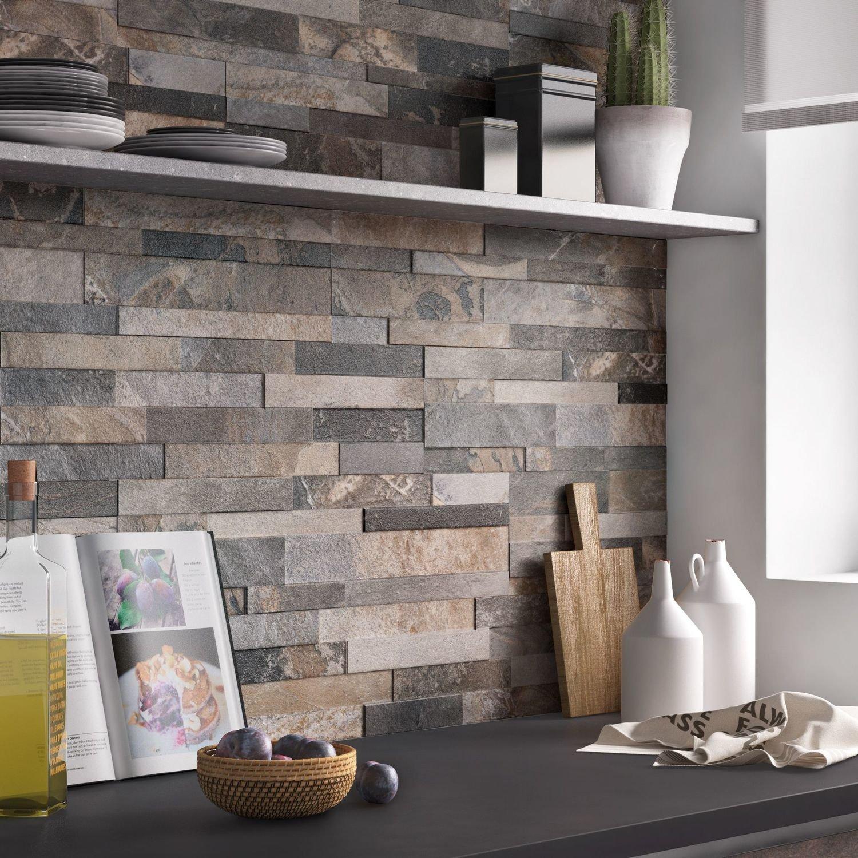 Embellir sa cuisine avec un carrelage aspect pierre - Faience murale cuisine leroy merlin ...
