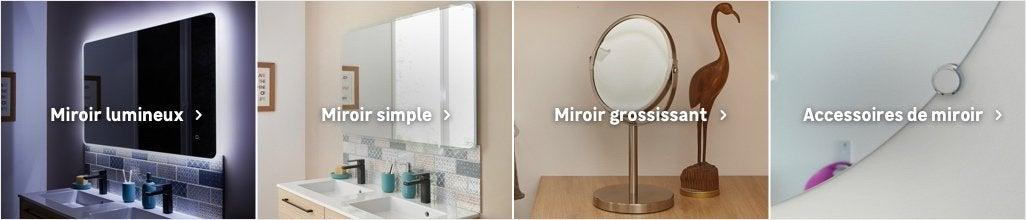 Miroir de salle de bains accessoires et miroirs de salle - Miroir grossissant salle de bain mural ...