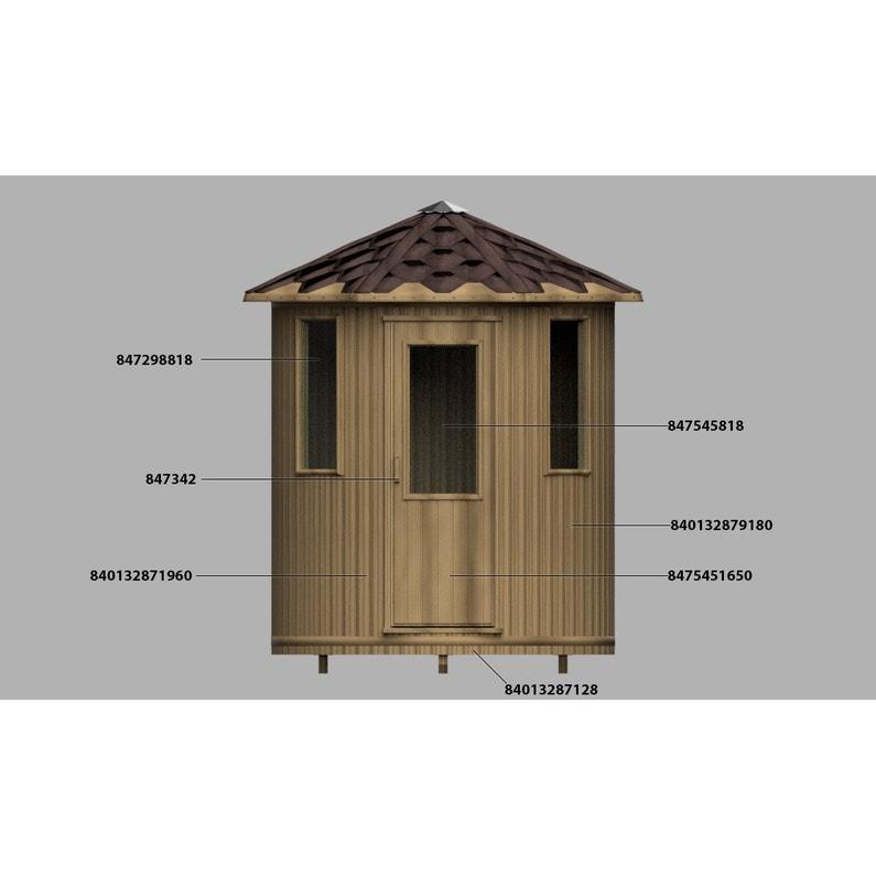 Sauna Traditionnel D Extérieur Plus De 3 Personnes Chalet Bancs Couchés