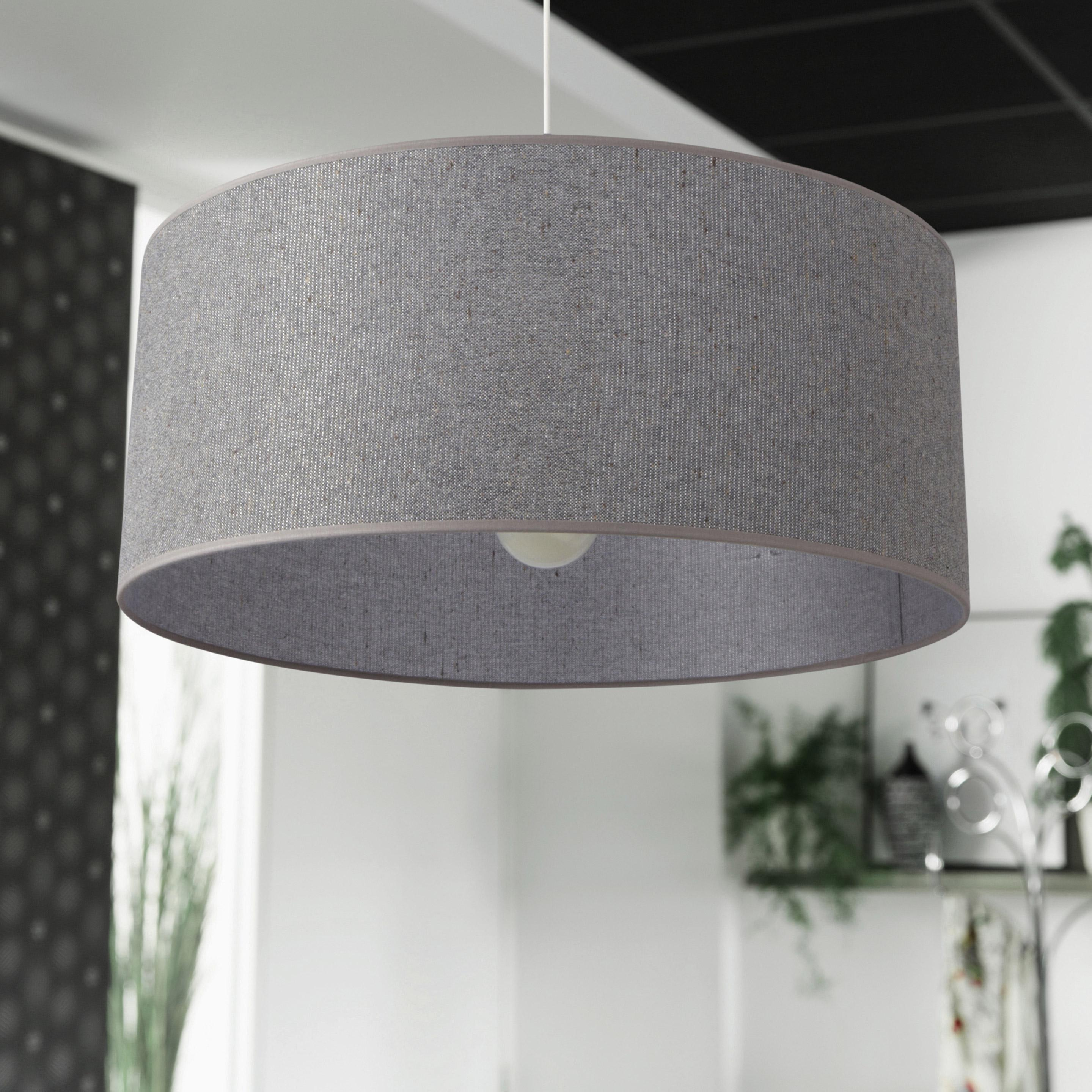 Suspension, e27 design Gris paillettes coton gris 1 x 100 W COREP
