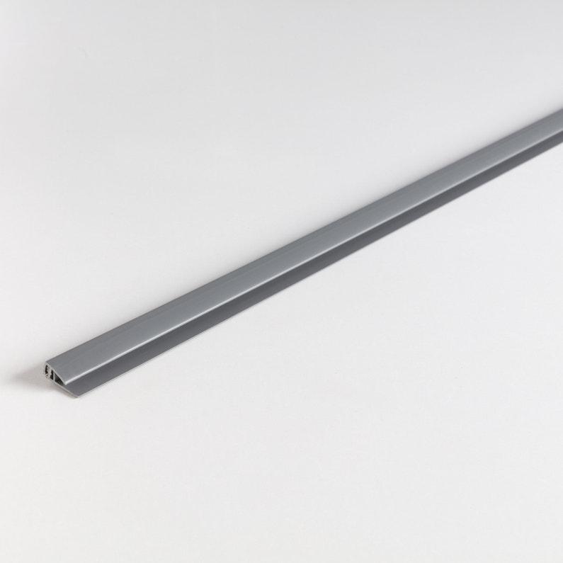 Profilé Départ Finition Pvc Mat Gris L 2 6 M X L 1 8 Cm