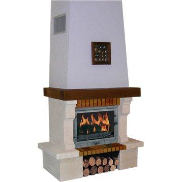 Habillage cheminée en pierre, CHINVEST USINE DARGEMONT,Valserine 195 poutre bois