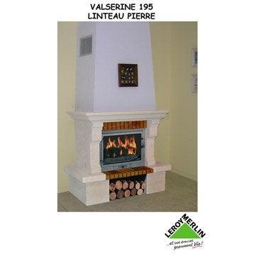 Habillage cheminée pierre, CHINVEST USINE DARGEMONT,Valserine 195 linteau pierre