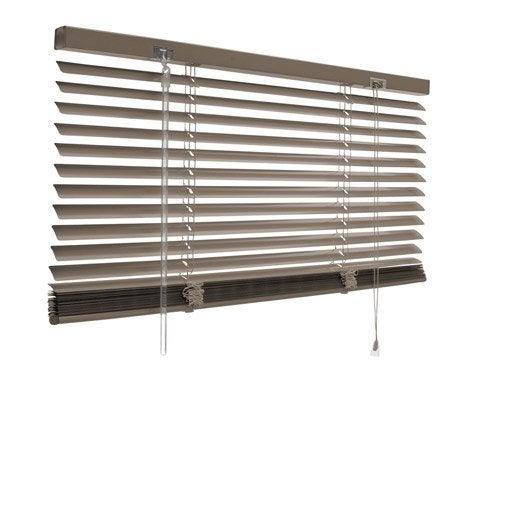 Store v nitien aluminium brun taupe n 3 x cm for Store venitien exterieur aluminium