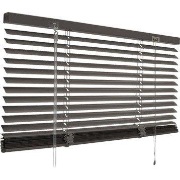 Store vnitien aluminium, aluminium satin, l.x H.1cm Leroy