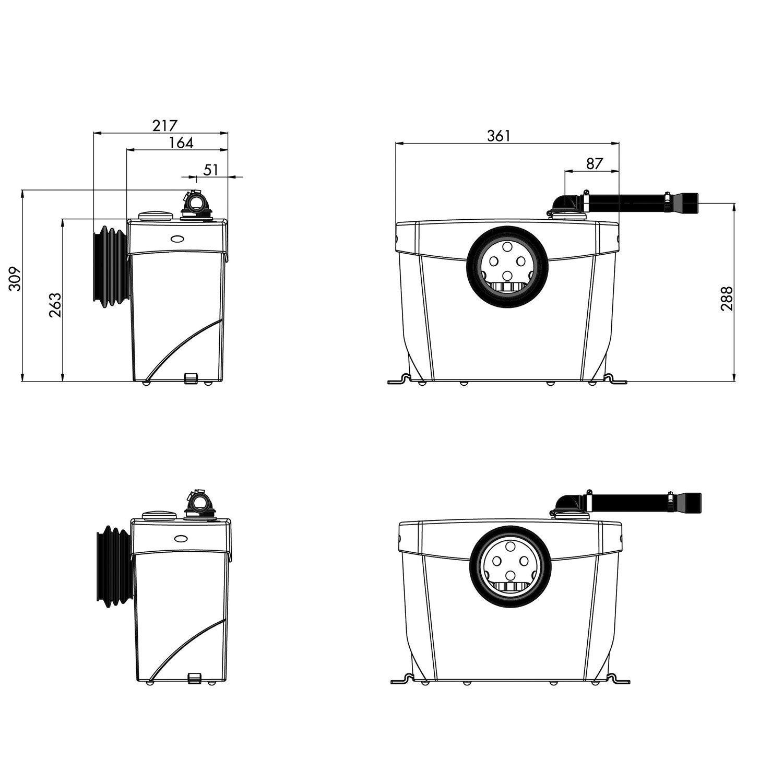 installer un sanibroyeur wc intelligent with installer un. Black Bedroom Furniture Sets. Home Design Ideas