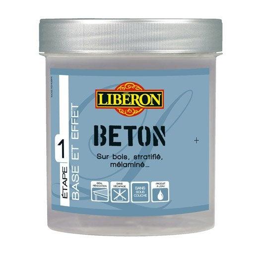 Peinture effet effet b ton mat liberon gris orage 0 5 - Peinture effet beton cire leroy merlin ...