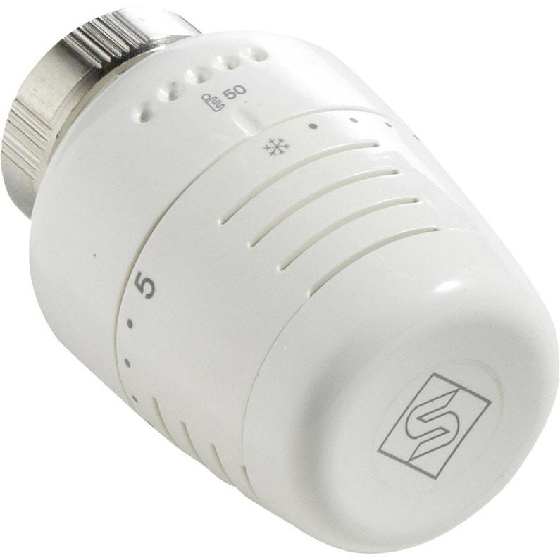 Tête De Robinet Thermostatique 1521 Femelle Femelle Pvc Blanc Ecopro