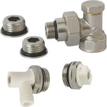 Robinet et accessoires pour radiateur eau chaude - Robinet thermostatique equerre inversee ...