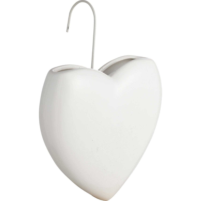 Saturateur Forme Coeur Ceramique Blanc 400 Ml Leroy Merlin