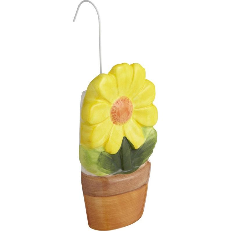 Saturateur Plat Céramique Motif Pot De Fleur 250 Ml
