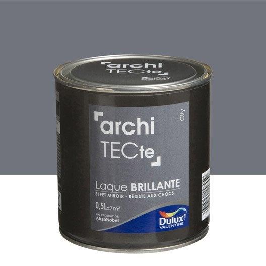 peinture gris city dulux valentine architecte 0 5 l leroy merlin. Black Bedroom Furniture Sets. Home Design Ideas