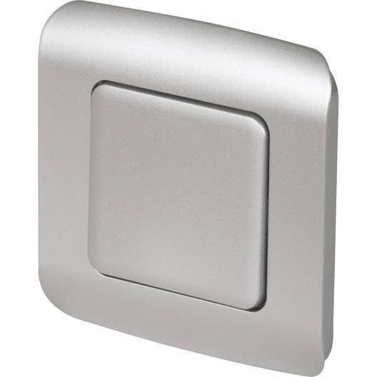 interrupteur va et vient cosy gris aluminium lexman leroy merlin. Black Bedroom Furniture Sets. Home Design Ideas