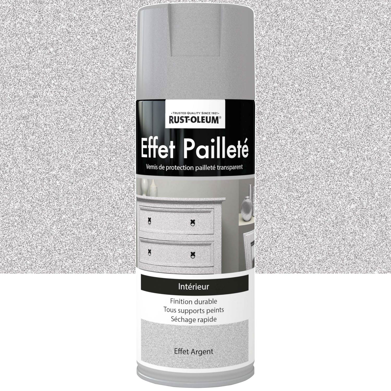 Peinture Blanche A Paillette peinture aérosol effet paillettes pailleté rustoleum, gris argent, 0.4 l
