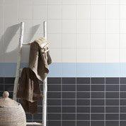 Faïence mur blanc ivoire, Astuce l.20 x L.20 cm