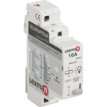 Télérupteur unipolaire LEXMAN 16 A