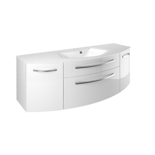 meuble vasque 131 cm blanc image leroy merlin. Black Bedroom Furniture Sets. Home Design Ideas