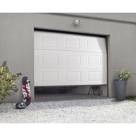 porte de garage sectionnelle motorisée artens essentiel h.212 x l