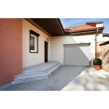 Porte de garage à enroulement motorisée ARTENS premium 200 x 240 cm, avec hublot