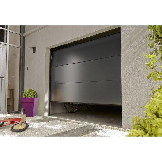 Porte De Garage Au Meilleur Prix Leroy Merlin - Porte de garage sectionnelle avec porte service pvc