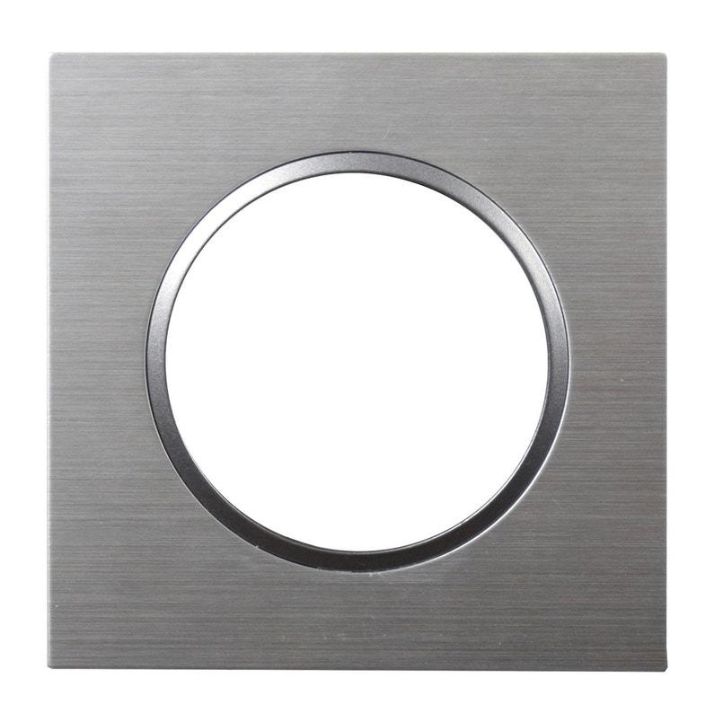 Plaque Epure Lexman Aluminium Brossé Brossé
