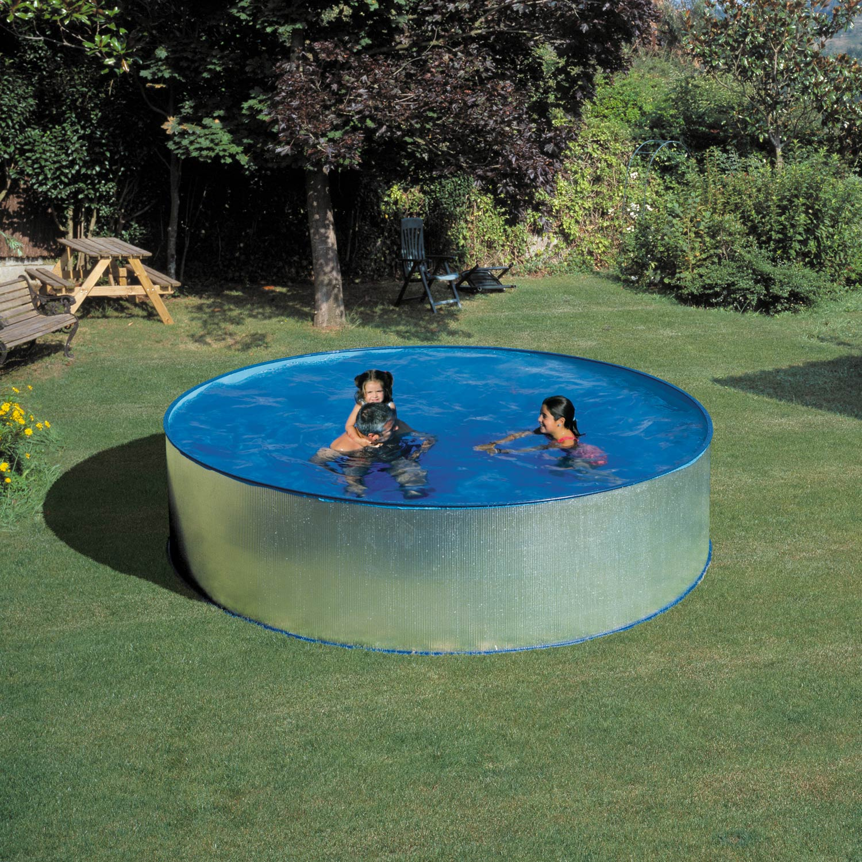 Piscine hors sol acier kitwpr350e gre diam x h 0 9 m for Pieces piscine hors sol acier