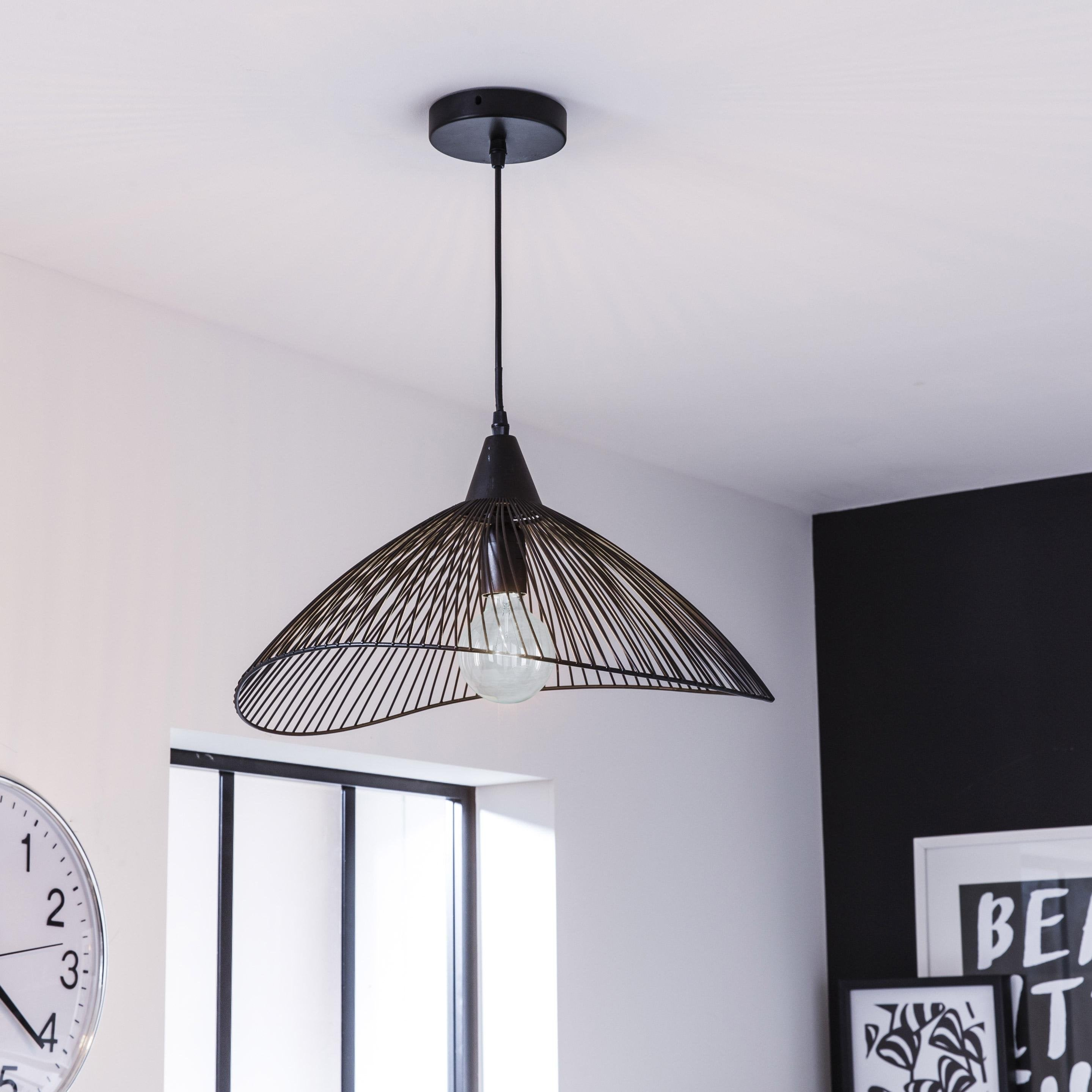 Suspension, e27 design Kasteli métal noir 1 x 40 W SEYNAVE