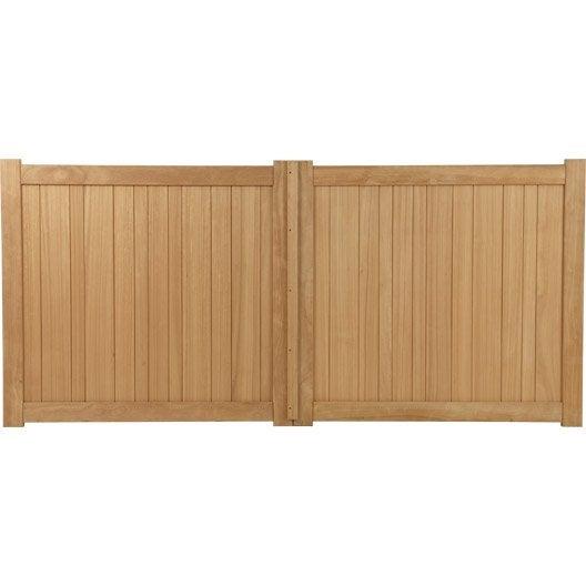 portail battant bois antibes naturel x cm leroy merlin. Black Bedroom Furniture Sets. Home Design Ideas