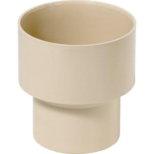 r duction pluviale femelle m le diam 100 80 en pvc sable leroy merlin. Black Bedroom Furniture Sets. Home Design Ideas