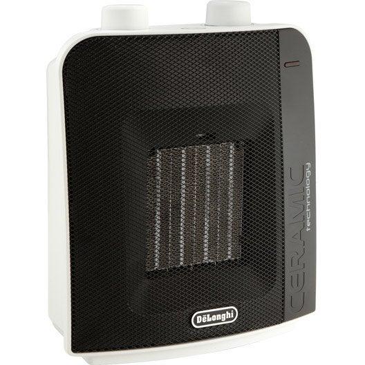 soufflant c ramique mobile lectrique delonghi dch6031 2000 w leroy merlin. Black Bedroom Furniture Sets. Home Design Ideas