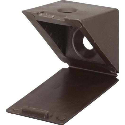 lot de 4 taquets visser plastique brun leroy merlin. Black Bedroom Furniture Sets. Home Design Ideas