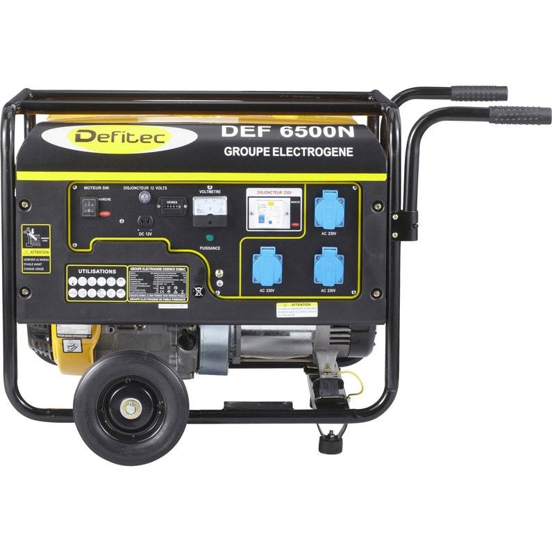 Groupe électrogène essence de chantier DEFITEC 6500 + chariot, 5000 ... d7c320f922db