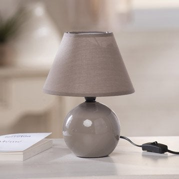 Lampe de chevet lampe de salon leroy merlin for Lampe de chevet taupe