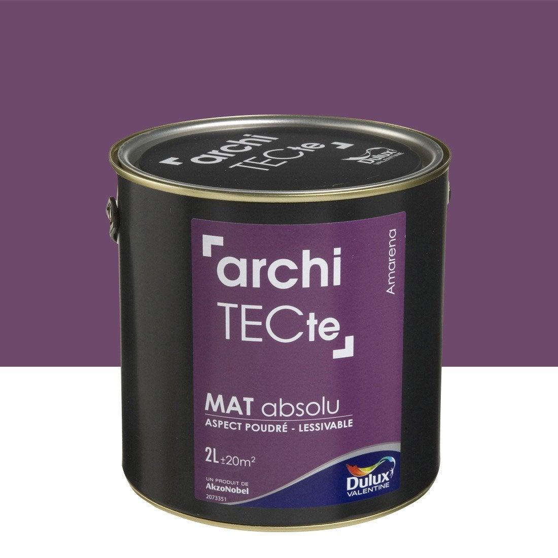 peinture violet amarena dulux valentine architecte 2 l leroy merlin. Black Bedroom Furniture Sets. Home Design Ideas