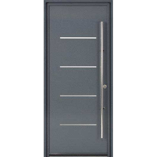 Porte d 39 entr e sur mesure en aluminium strate excellence for Prix d une porte d entree en aluminium