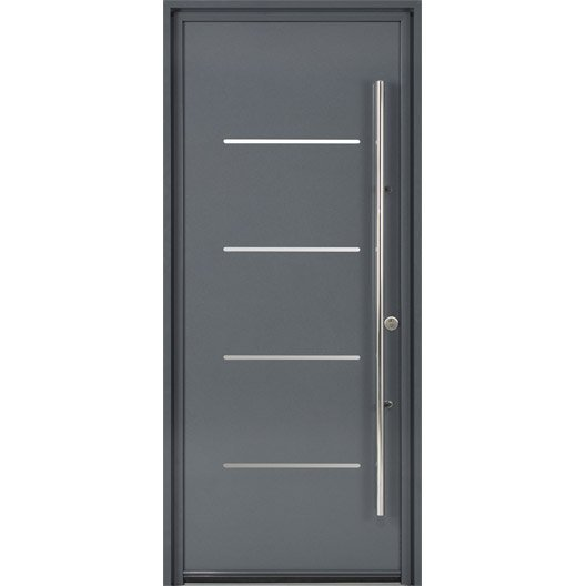 Porte d 39 entr e sur mesure en aluminium strate excellence for Dimension porte entree