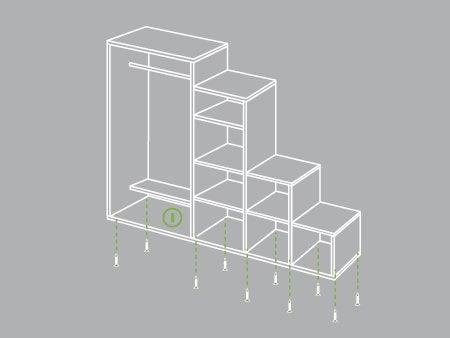 comment cr er un dressing sous un escalier leroy merlin. Black Bedroom Furniture Sets. Home Design Ideas