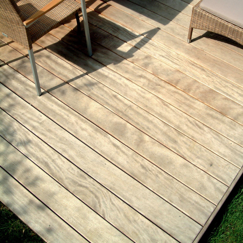 Planche bois Cumaru, naturel, L.47 x l.47.47 cm x Ep.47 mm | Leroy ... - Quel Bois Pour Terrasse